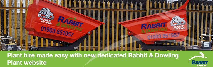 Plant hire made easy with new dedicated Rabbit & Dowling Plant website