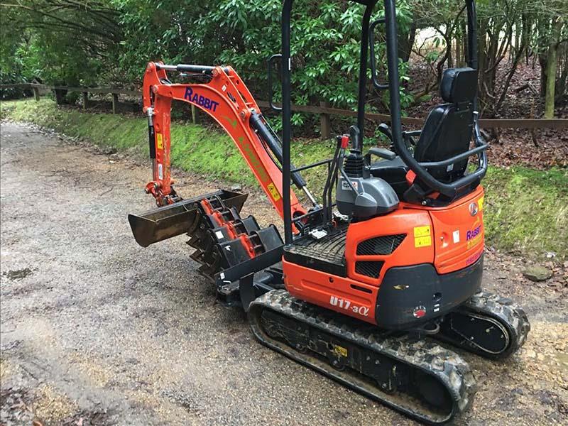 Excavator Hire Sussex - 1.7 tonne Kubota