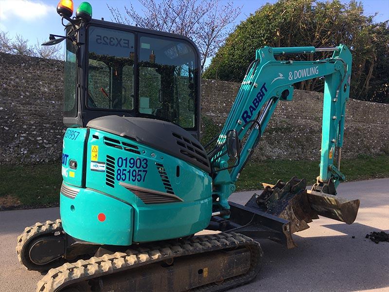 Excavator Hire Sussex - 3 tonne Kobelco