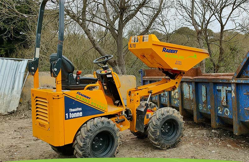 Dumpers for hire from Rabbit and Dowling