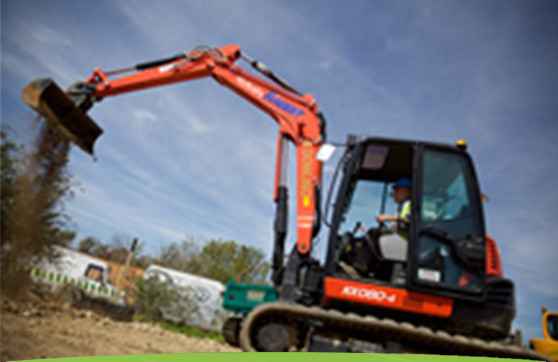 Excavators for hire from Rabbit and Dowling