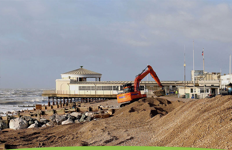 Plant Hire equipment used on a Sussex beach