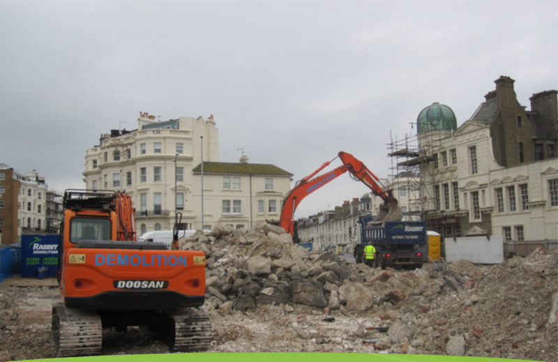 Demolition project using Rabbit and Dowling Plant Hire equipment